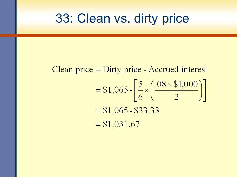 33: Clean vs. dirty price