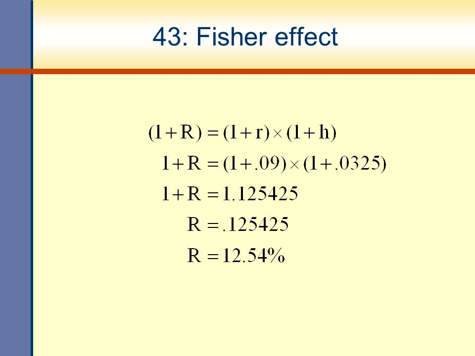 43: Fisher effect