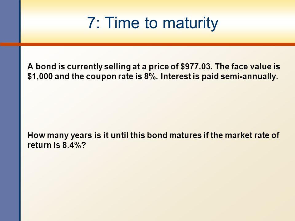 17: Interest rate risk Bond A: Enter 2  2 6/2 60/2 1,000 N I/Y PV PMT FV Solve for  1,000 Bond B: Enter 10  2 6/2 60/2 1,000 N I/Y PV PMT FV Solve for  1,000