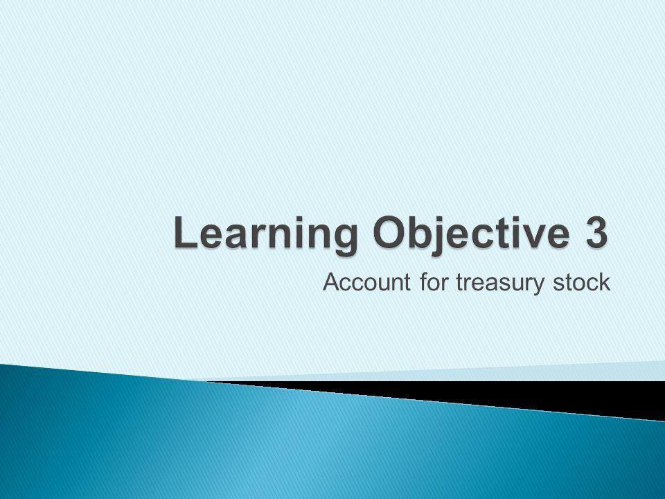 Account for treasury stock
