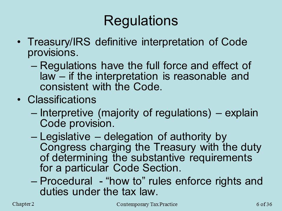 Regulations (Cont'd) Citing a Regulation –Reg.Sec.