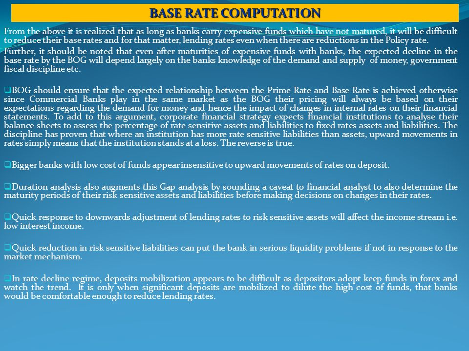 From the above it is realized that as long as banks carry expensive funds which have not matured, it will be difficult to reduce their base rates and for that matter, lending rates even when there are reductions in the Policy rate.