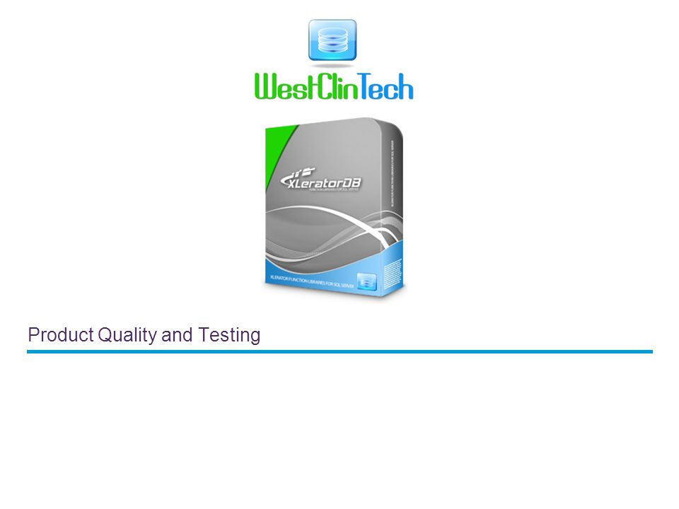 Product Quality and Testing