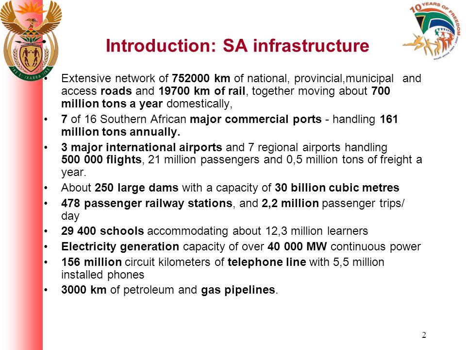 3 Why focus on infrastructure.