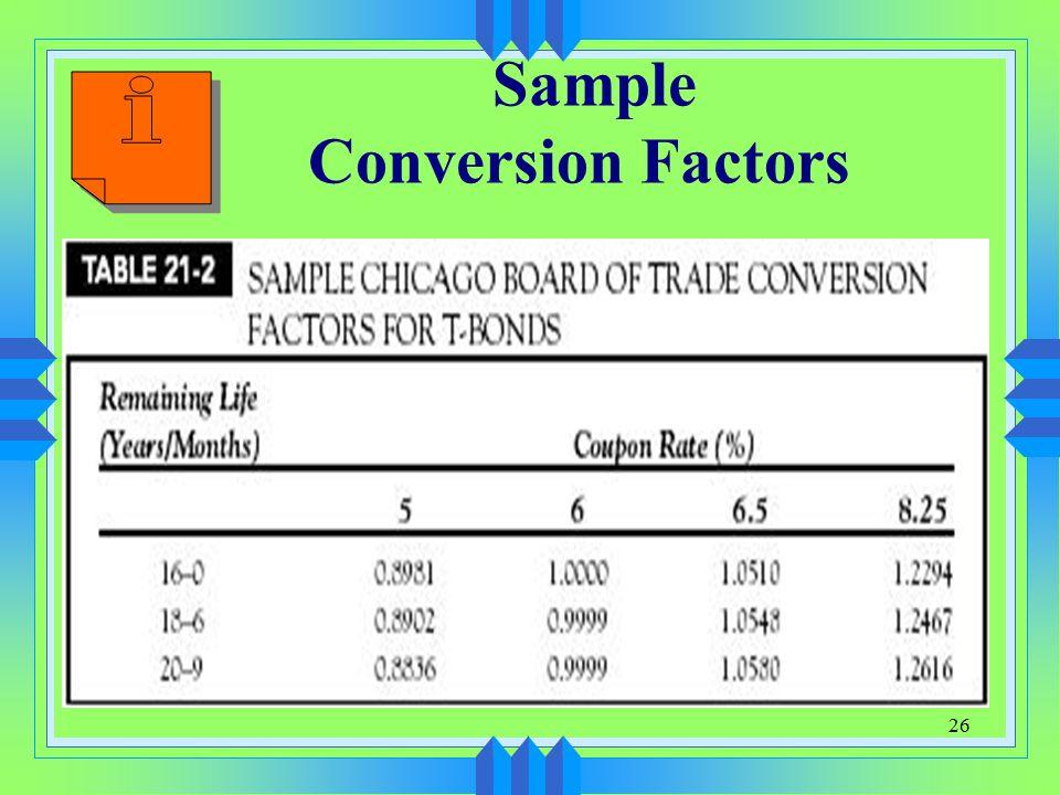 26 Sample Conversion Factors