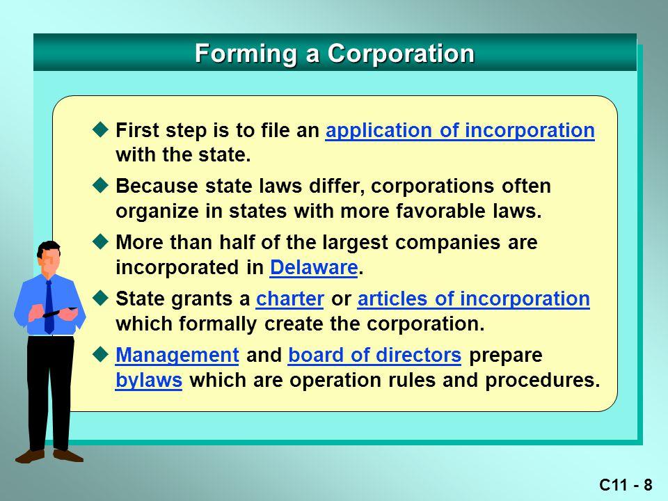 C11 - 9 DateDescription Debit Credit DateDescription Debit Credit Forming a Corporation Organization Costs8,500 Cash8,500 Jan.