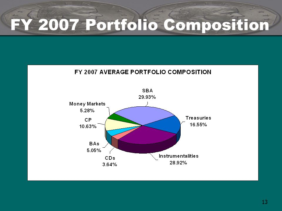 13 FY 2007 Portfolio Composition