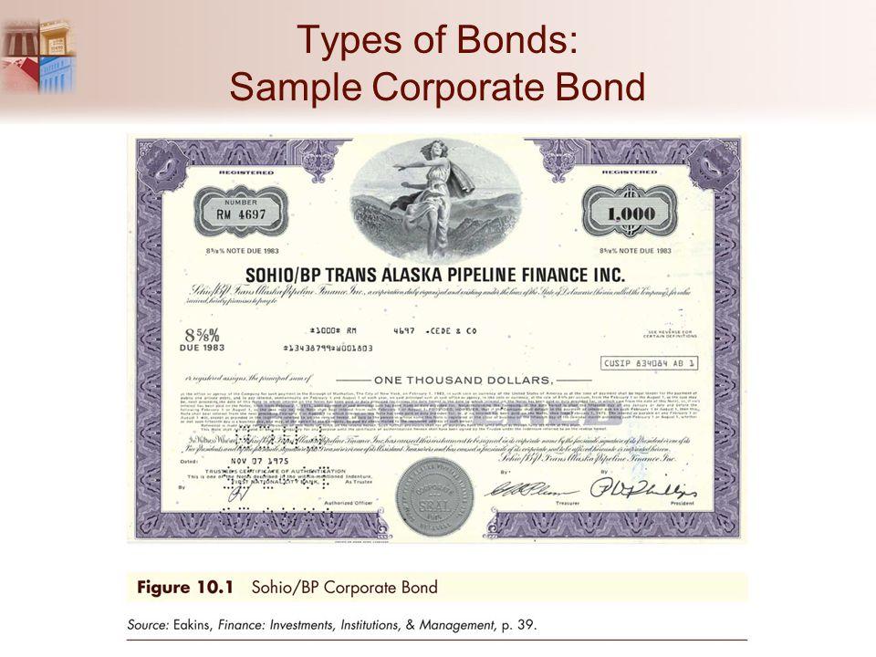 Types of Bonds: Sample Corporate Bond