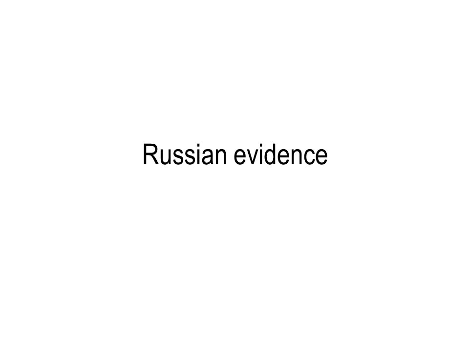 Russian evidence