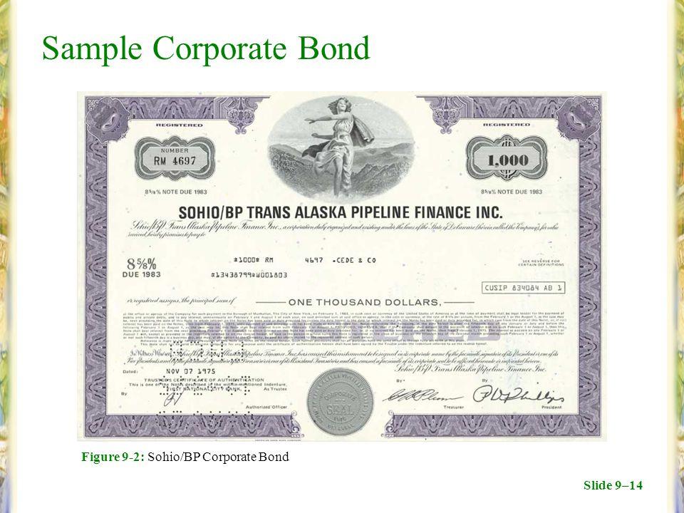 Slide 9–14 Sample Corporate Bond Figure 9-2: Sohio/BP Corporate Bond