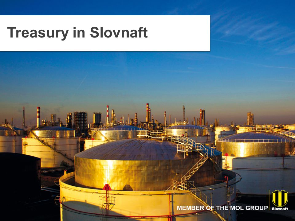 Key Projects - 2014 Key Treasury projects completed or started in 2014: Partial Treasury centralization within Slovnaft Group in Slovakia Participation in SAP implementation in SLOVNAFT, a.s.