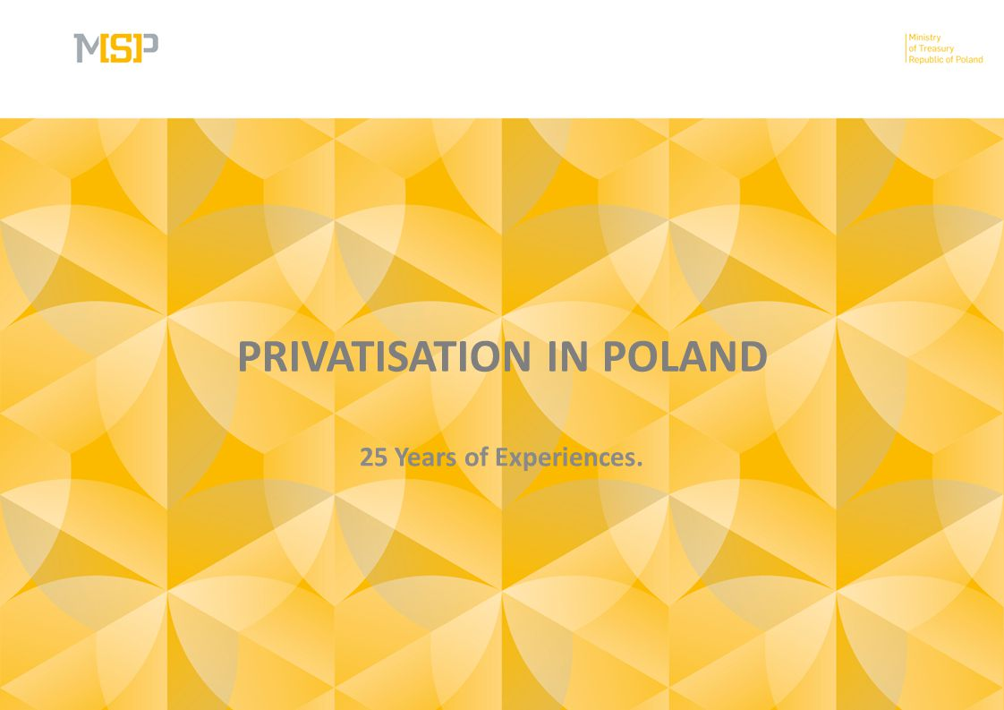 PRIVATISATION IN POLAND 25 Years of Experiences.