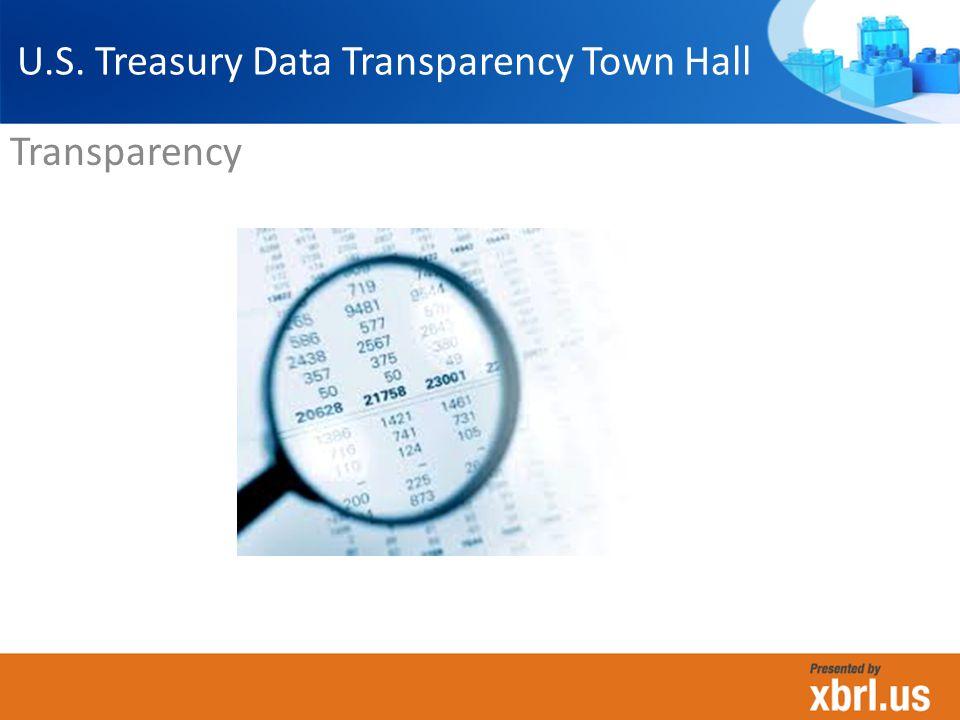 Transparency U.S. Treasury Data Transparency Town Hall
