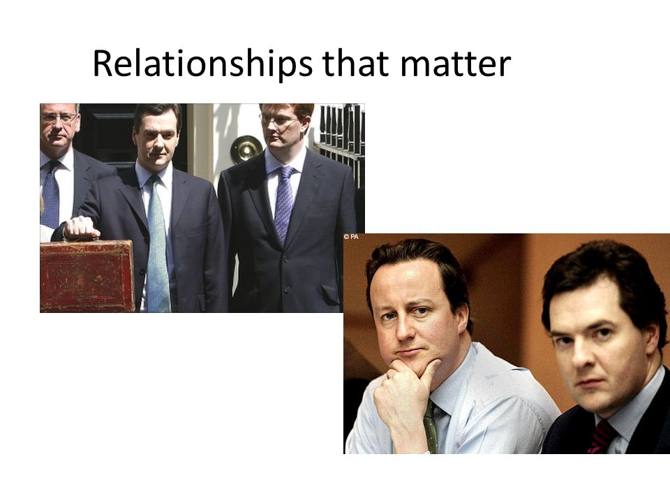 Relationships that matter