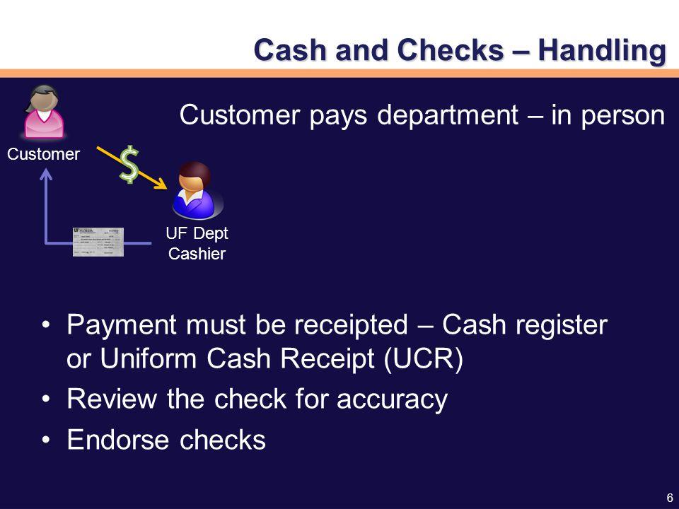 17 Cash & Checks: Preparing the Deposit