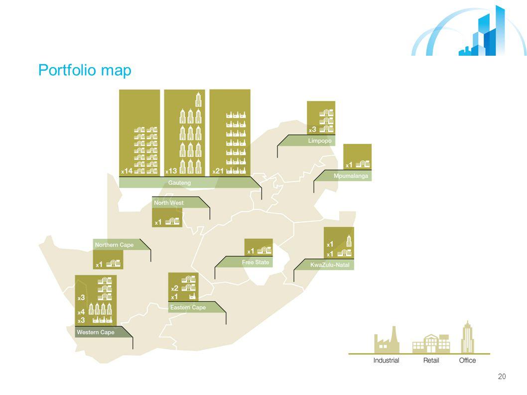 20 Portfolio map