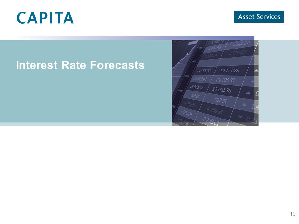 19 Interest Rate Forecasts