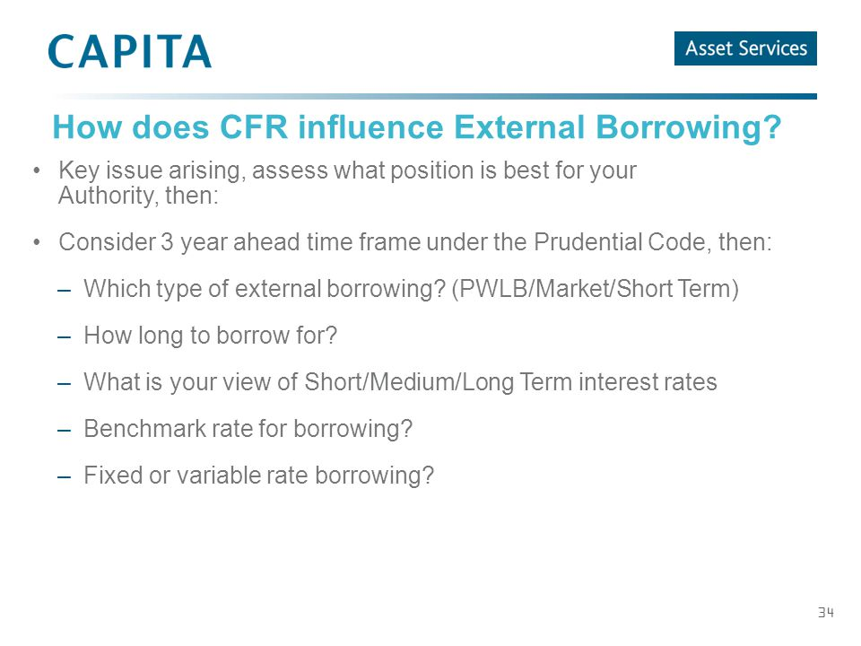 34 How does CFR influence External Borrowing.