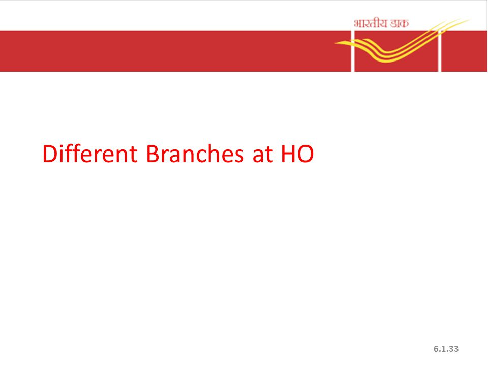 Different Branches at HO 6.1.33