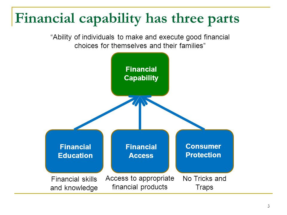 Why is Financial capability so important – it contributes to financial stability … Good financial decisions and management of financial resources are the basis for individual and family financial stability – which, in turn, contributes to the financial stability of the whole economy.