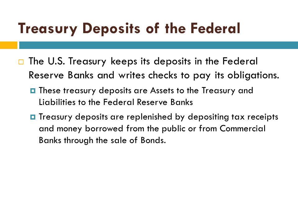 Reserves of Commercial Banks  Commercial Banks are required to hold reserves, and these reserves are held by the Federal Reserve Banks.  This is a l