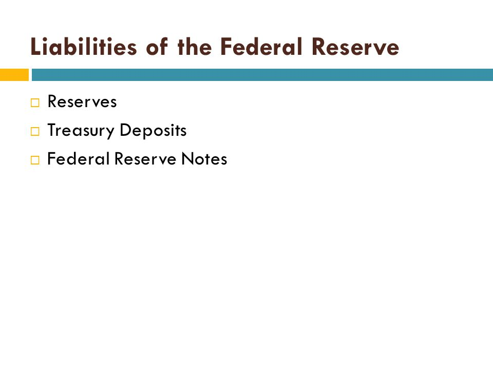 Key Points:  When the Federal Reserve Bank sells securities in the Open-Market, commercial bank reserves are reduced.