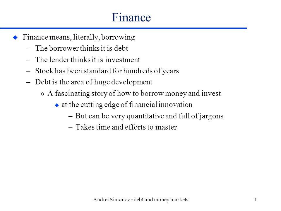 Andrei Simonov - debt and money markets12