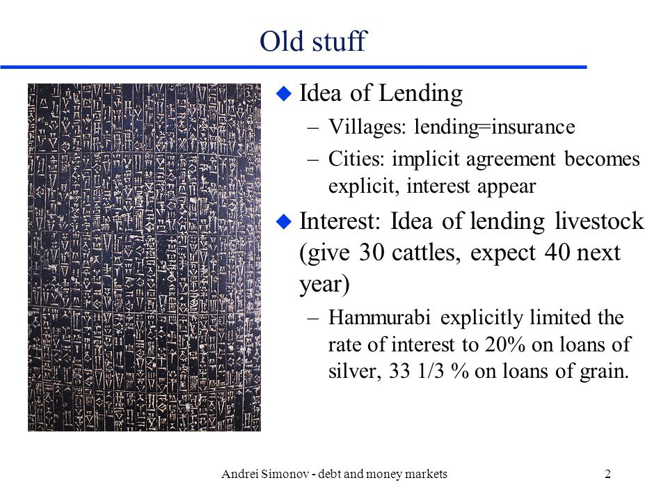 Andrei Simonov - debt and money markets33 Yield price relationship u Even if the discount rate is a constant –Price of discount bonds will increase with time –Price of premium bonds will decrease with time –Par bonds will remain at par –All bond prices converge to the face value at maturity –Discount bonds have a built-in capital gain.