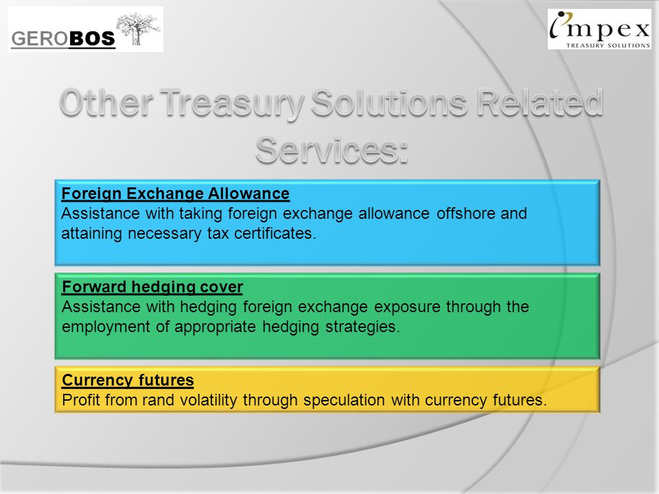 Foreign Exchange Allowance Assistance with taking foreign exchange allowance offshore and attaining necessary tax certificates.