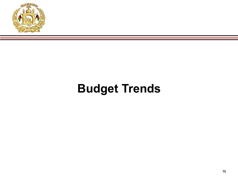 18 GIRoA Budget and Local Governance Basics Budget Trends