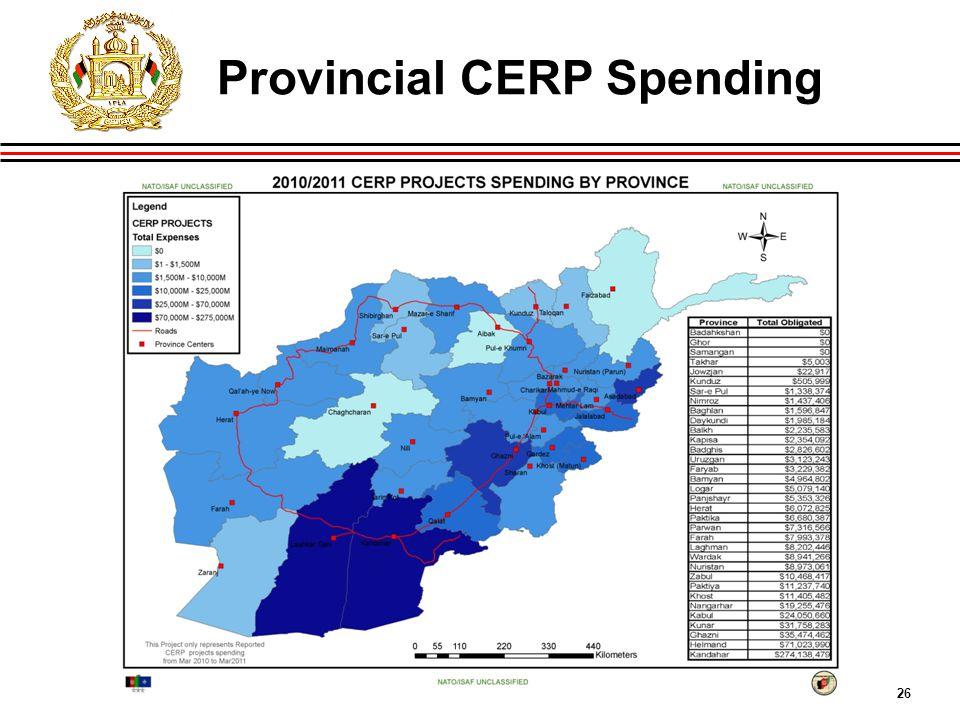 26 Provincial CERP Spending