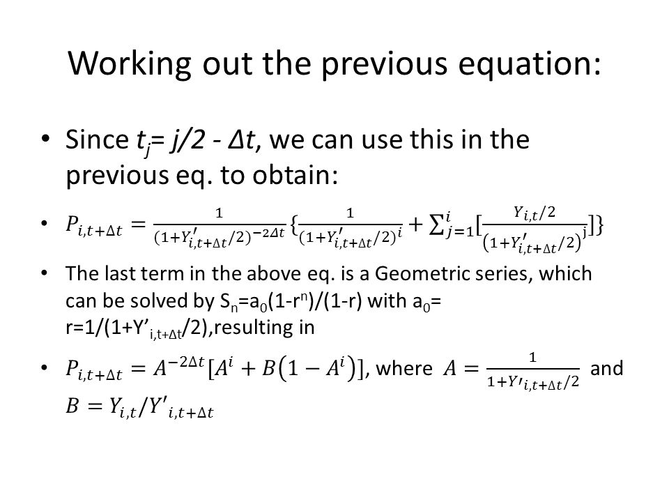 Working out the previous equation: