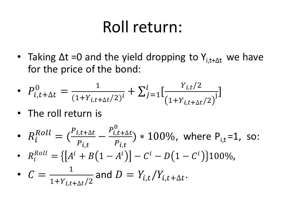 Roll return: