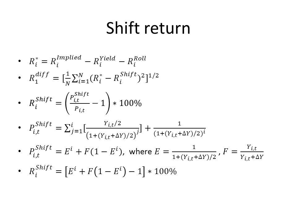 Shift return