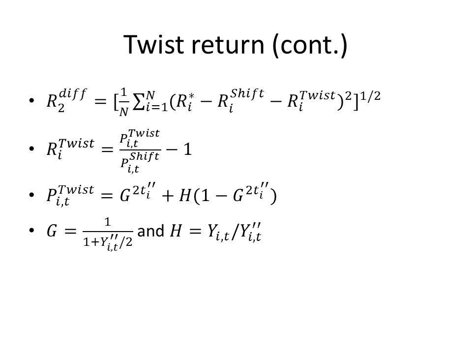 Twist return (cont.)