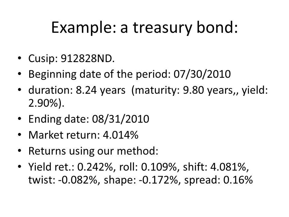 Example: a treasury bond: Cusip: 912828ND.