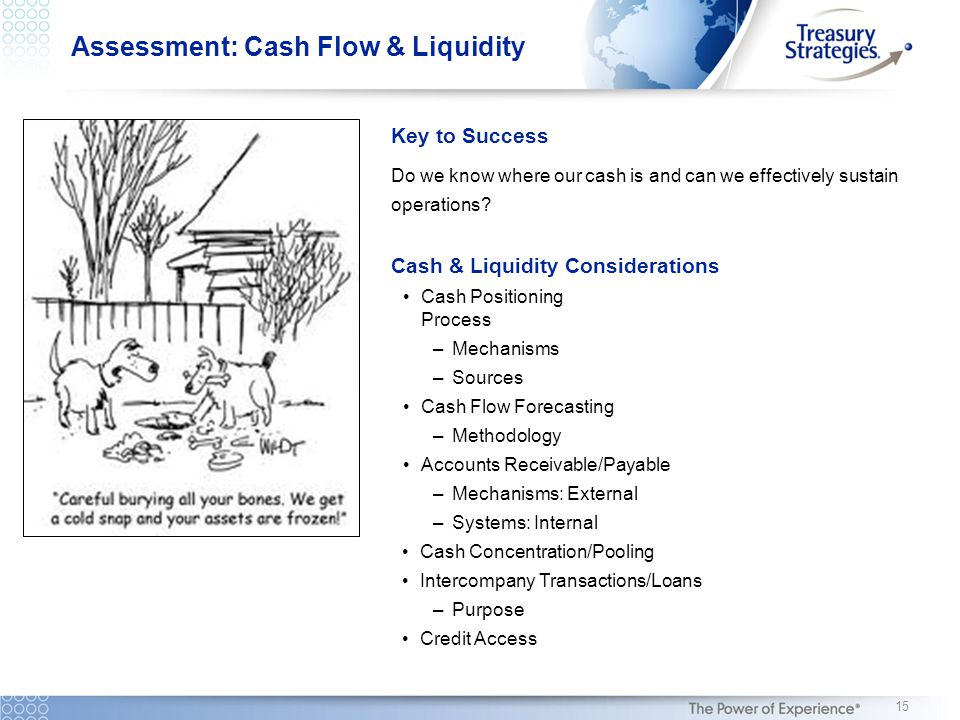 Key to Success Do we know where our cash is and can we effectively sustain operations.