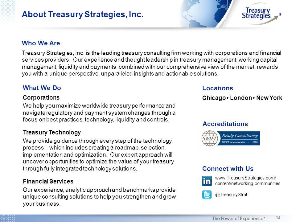 About Treasury Strategies, Inc.Who We Are Treasury Strategies, Inc.