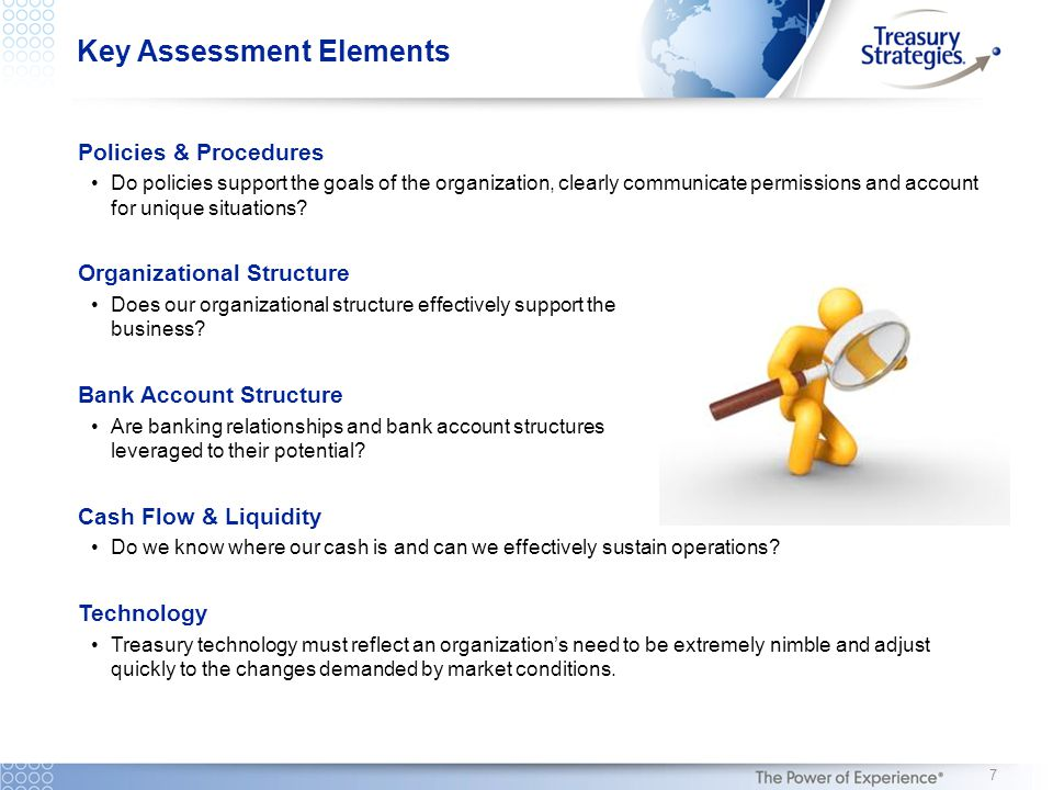 Key Assessment Elements Policies & Procedures Do policies support the goals of the organization, clearly communicate permissions and account for uniqu