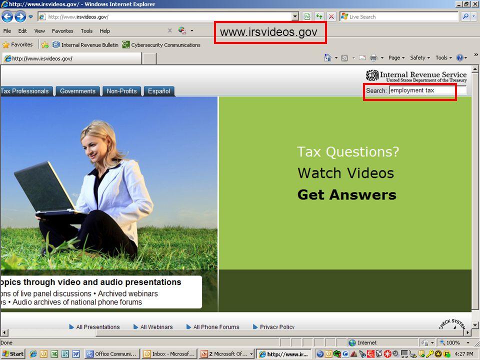www.irsvideos.gov