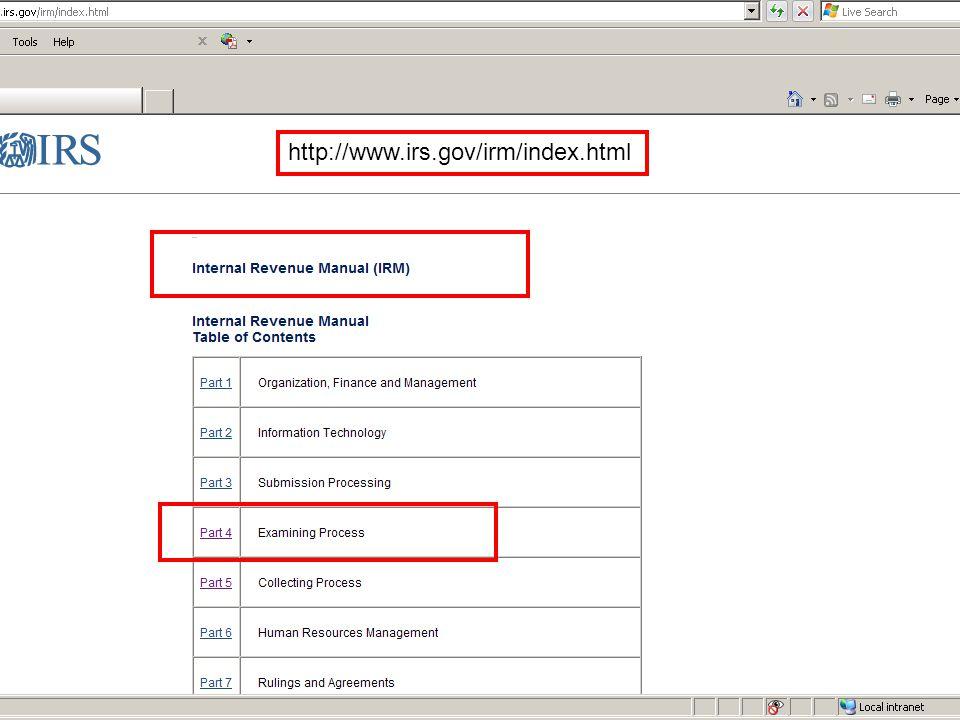 http://www.irs.gov/irm/index.html