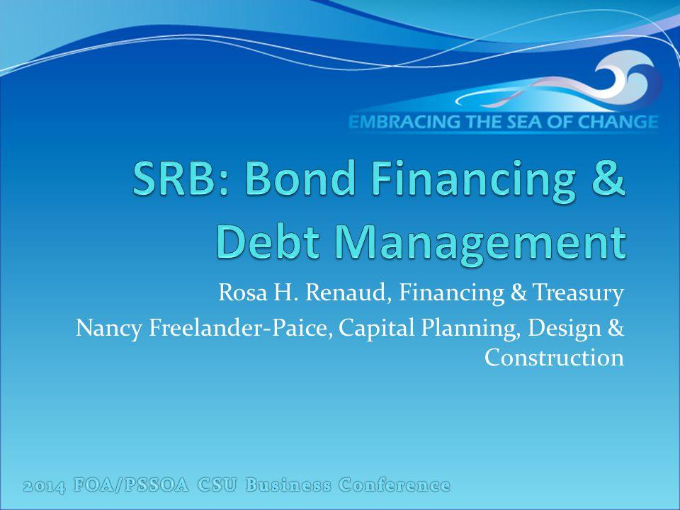 SRB: Bond Financing & Debt Management Agenda: Debt Outstanding Process IRS Tax-Exempt Bond Requirements Debt Management 2