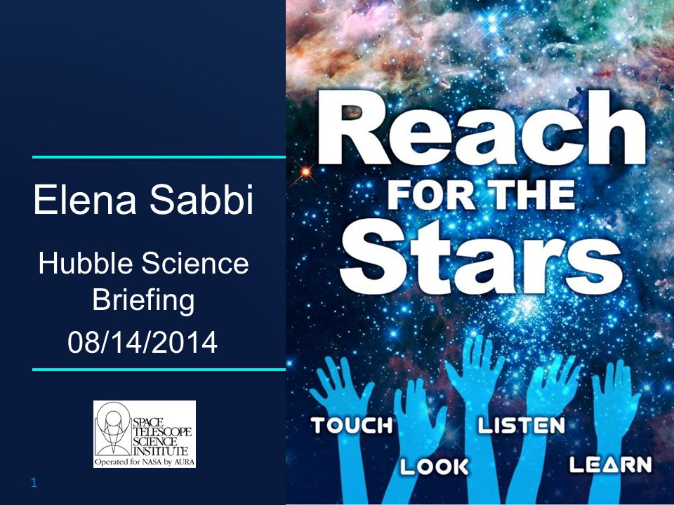 Elena Sabbi Hubble Science Briefing 08/14/2014 1