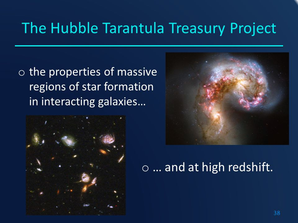 The Hubble Tarantula Treasury Project o the properties of massive regions of star formation in interacting galaxies… o … and at high redshift.