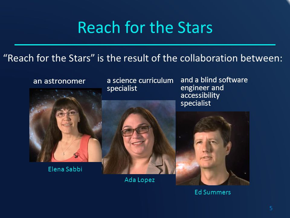 Summary o Reach for the Stars is a highly interactive eBook designed to expose middle school students to STEM content.