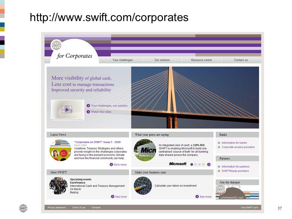http://www.swift.com/corporates 37