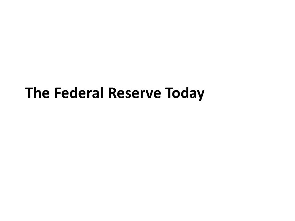 The Federal Reserve Today