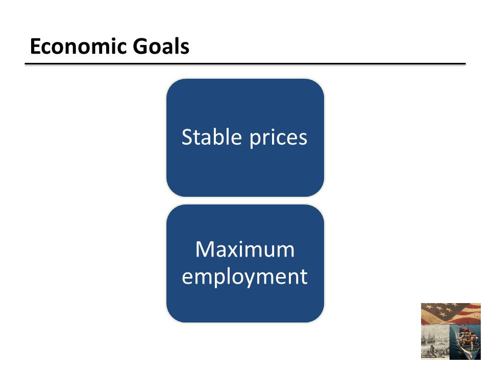 Economic Goals Stable prices Maximum employment