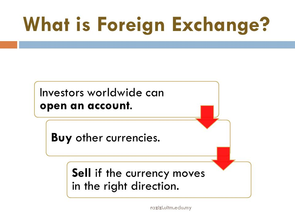 What is Foreign Exchange.Investors worldwide can open an account.