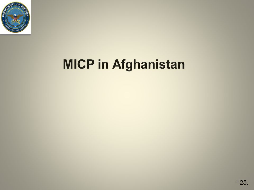 MICP in Afghanistan 26 25.